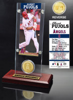 Albert Pujols Ticket & Bronze Coin Desk Top Acrylic