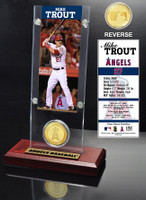 Mike Trout Ticket & Bronze Coin Desk Top Acrylic