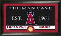 Los Angeles Angels The Man Cave Bronze Coin Panoramic Photo Mint