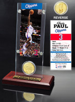 Chris Paul Ticket and Bronze Coin Desktop Acrylic