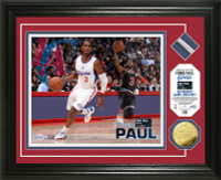 Chris Paul 2015 All-Star Game Used Net Gold Coin Photo Mint