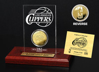 Los Angeles Clippers 24KT Gold Coin Etched Acrylic
