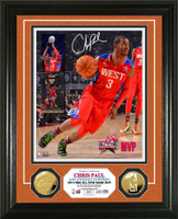 Chris Paul 2013 NBA ASG MVP Gold Coin Photo Mint