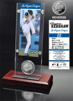 Clayton Kershaw Ticket & Bronze Coin Acrylic Desk Top