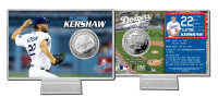 Clayton Kershaw Silver Coin Card