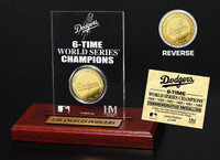 Los Angeles Dodgers Gold Mint Coin Acrylic Desk Top Display
