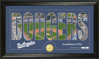 Los Angeles Dodgers Silhouette Bronze Coin Panoramic Photo Mint