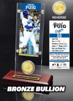 Yasiel Puig Ticket & Bronze Coin Acrylic Desk Top