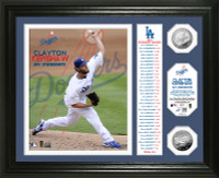 Clayton Kershaw 301 Strikeouts Banner Silver Coin Photo Mint