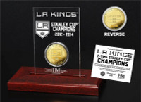 LA Kings 2-time Stanley Cup Champions Gold Coin Etched Acrylic