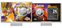 Kobe Bryant Los Angeles Lakers Silver Coin Card