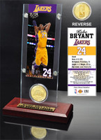 Kobe Bryant Los Angeles Lakers Ticket and Bronze Coin Desktop Acrylic