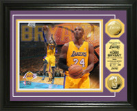 Kobe Bryant Los Angeles Lakers 24k Gold Coin Photo Mint LE 1,000