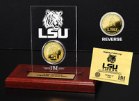 Louisiana State University 24KT Gold Coin Etched Acrylic