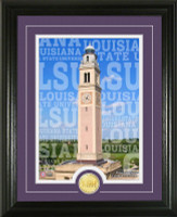 Louisiana State University Campus Traditions Bronze Coin Photo Mint
