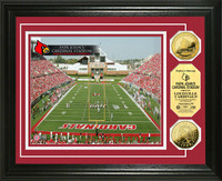 Papa Johns Cardinal Stadium 24KT Gold Coin Photomint