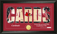 University of Louisville Basketball Silhouette Bronze Coin Panoramic Photo Mint