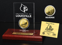 Louisville Cardinals 24KT Gold Coin Etched Acrylic