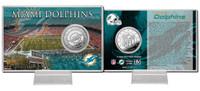 Miami Dolphins Silver Coin Card