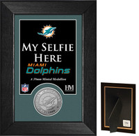 Miami Dolphins Selfie Minted Coin Mini Mint