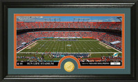Miami Dolphins Stadium Bronze Coin Panoramic Photo Mint