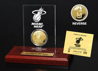 Miami Heat 24KT Gold Coin Etched Acrylic