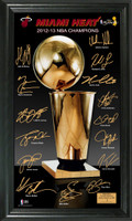 2013 NBA Champions Trophy Signature Frame