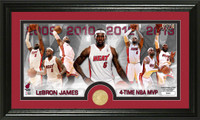 Lebron James MVP Bronze Coin Panoramic Photo Mint