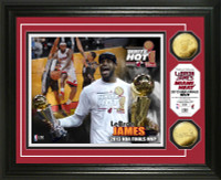 2013 NBA Finals MVP Gold Coin Photo Mint