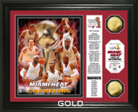 2013 NBA Champions Banner Gold Coin Photo Mint