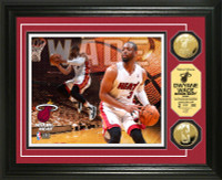 Dwayne Wade Gold Coin Photo Mint