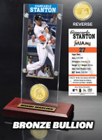 Giancarlo Stanton Ticket & Bronze Coin Acrylic Desk Top