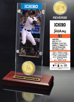 Ichiro Ticket & Bronze Coin Acrylic Desk Top