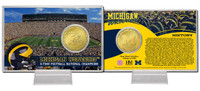University of Michigan 11-Time National Champions Bronze Coin Card