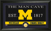 University of Michigan Man Cave Bronze Coin Panoramic Photo Mint