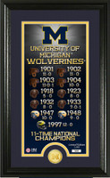 University of Michigan Legacy Bronze Coin Panoramic Photo Mint
