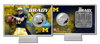 Tom Brady Michigan Silver Coin Card
