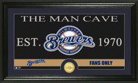 Milwaukee Brewers The Man Cave Bronze Coin Panoramic Photo Mint