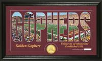 University of Minnesota Silhouette Bronze Coin Panoramic Photo Mint
