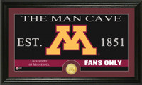 University of Minnesota Man Cave Bronze Coin Panoramic Photo Mint