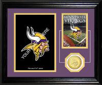 Minnesota Vikings Framed Memories Desktop Photo Mint