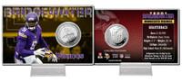 Teddy Bridgewater Silver Coin Card