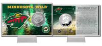 Minnesota Wild Silver Coin Card