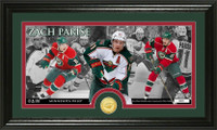 Zach Parise Bronze Coin Panoramic Photo Mint