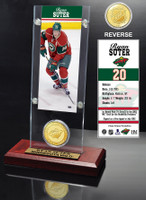 Ryan Suter Ticket and Bronze Coin Desktop Acrylic