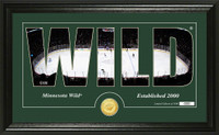 Minnesota Wild Silhouette Bronze Coin Panoramic Photo Mint