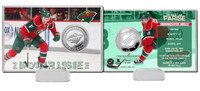 Zack Parise Silver Coin Card