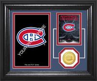 Montreal Canadians Fan Memories Bronze Coin Desktop Photo Mint