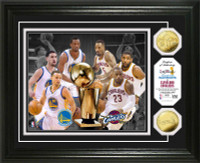 2015 NBA Finals Dueling Logo Gold Coin Photo Mint (Warriors vs Cavaliers)