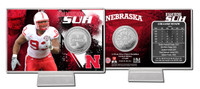 Ndamukong Sue Nebraska Silver Coin Card